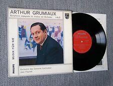 """Grumiaux, Fournet: Lalo: Symphonie Espagnole Philips minigroove ed1 10"""" LP NM"""