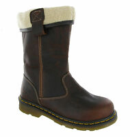 Dr Martens Rosa Safety Steel Toe Cap Fur Lined Womens Rigger Boots UK3-8