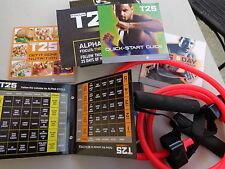 SHAUN T T25 Workout DVD Alpha Beta 9 Disc Set Resistance Band