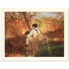 William Nelson, Hunter & Dog  Lt. Edt. Lithograph hand signed Artist Proof