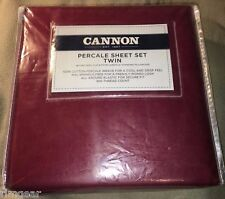 Cannon 300 Ct. Percale 100% Cotton Sheet Set - Twin