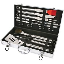 18 Piece Barbecue Set Stainless Steel Outdoor Cooking Grill BBQ Utensils Tools
