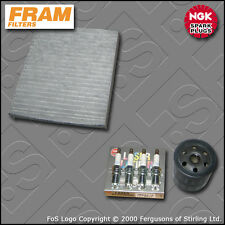 SERVICE KIT for VOLVO S40 II 2.0 16V FRAM OIL CABIN FILTER NGK PLUGS (2006-2012)
