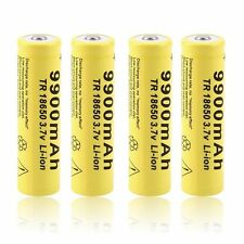 4pcs 3.7V 18650 9900mah Li-ion Rechargeable Battery For LED Flashlight Torch UH
