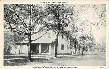 B30/ New Harmony Indiana In Postcard c1910 Fauntleroy Home First Women's Club