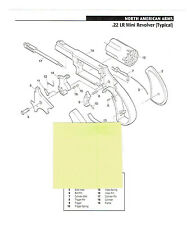 NORTH AMERICAN ARMS .22 REV.  25, 32, 380 PISTOL  EXP. VIEW/PARTS LIST 2011 AD