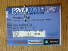 04/01/2003 Ticket: Ipswich Town v Morecambe [FA Cup]