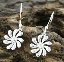Sassi AE3375 Ladies 925 Sterling Silver Flower Shepherd Hook Drop Earrings