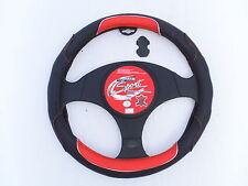 KIA PRO CEE'D STEERING WHEEL COVER SW 12 BLACK/RED ITALIAN LEATHER