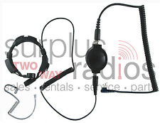 Throat Mic Headset For Motorola 2 Pin Radios CP200 PR400 CP185 BPR40 P1225 GP300