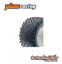 Schumacher Racing Mini Spike Stadium Truck Tyres Yellow Compound One Pair U6706