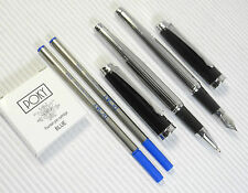 Pirre Paul's 202A Fountain & roller ball Pen F nib POKY Cartridges Refill BLUE