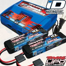 Traxxas combo pack with (1) 2972 Dual ID charger & (2) 2869x 7600 LiPo's E-MAXX