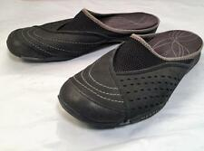 MERRELL RUMBA BLACK LEATHER MULES SANDALS WOMENS 6   36