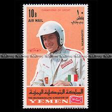 ★ LUDIVICO SCARFIOTTI Pilote F1 ★ YEMEN 1969 Timbre Auto / Car Postage Stamp #4