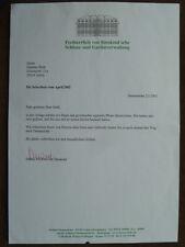 .Adel - Sabine Freifrau von Süsskind, signierter Brief
