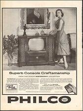 1959 vintage AD PHILCO Console Television  Directa Wireless remote Control 62716