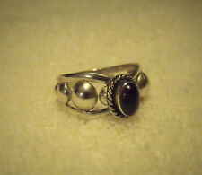 WONDERFUL STERLING SILVER .925 AMETHYST COCKTAIL RING  PURPLE SIZE 9.75