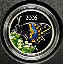 2006 Canada 50 Cents Butterfly Coin - Short Tailed Swallowtail