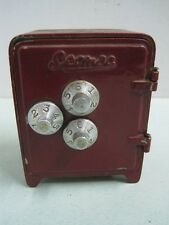 antique  piggy bank/ moneybox money box a safety deposit box in metal nº 1080