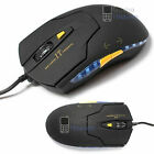 LED LASER USB WIRED OPTICAL GAME GAMING MOUSE PC 6 BUTTONS ADJUSTABLE 1200 DPI