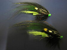 2 V Fly Ultimate Alta Steinfossen Black & Green Turbo Disc Salmon Tube Flies