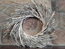 "New 22"" Faux BIRCH BRANCH Natural Twigs FALL Christmas Winter WREATH"
