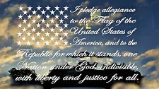 "I Pledge allegiance to the flag,16""x8"",America,God,Country,Truck,Vinyl Decal"