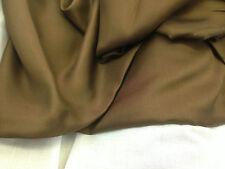 coupon de tissu  pure soie twill de soie couture marron  : 3.m x 1 m ; R mag 1