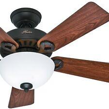 """Hunter 44""""  Bronze Ceiling Fan with Cased White Light Kit"""