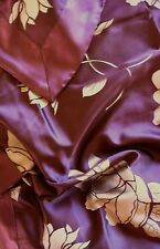 "3 pcs100% mulberry silk Queen Duvet comforter cover set  86x86""Dream plum floral"