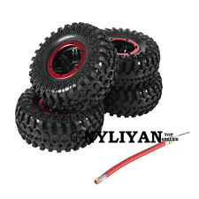 "4X 2.2"" Inflatable Pneumatic Tires&Alloy Beadlock Wheels For RC 1/10 SCX10 Car"