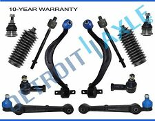 NEW 12pc Front Lower Control Arm w/ Ball Joint + Inner & Outer Tie Rod Kit Dodge