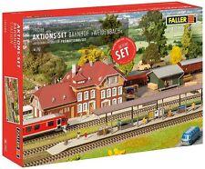 Faller HO 190288 Aktions-Set Bahnhof Weidenbach Bausatz *Neu*