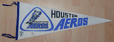 HOUSTON AEROS 1970'S VINTAGE WHA HOCKEY TEAM FULL SIZE ORIG PENNANT GORDIE HOWE