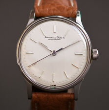 1961 Vintage IWC Schaffhausen Cal. 89 CLASSIC STAINLESS STEEL MEN SWISS WATCH