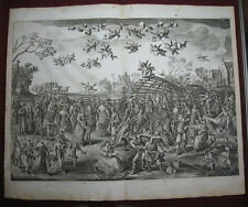 Kupferstich S Savery zugeschr.: Ehe-Falle 1655/Engraving Marriage Trap Totentanz