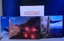 Star Wars Battlefront Collectors Edition Art Card Set - 4 Deluxe Lithographs