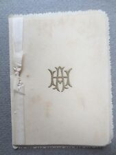 ANTIQUE Christmas Card H Ayers Netherby Elm Wisbech 1905 Edwardian