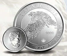 Canada Faucon des neiges 1,5 once argent 1,5 oz 8 dollars Snow Falcon