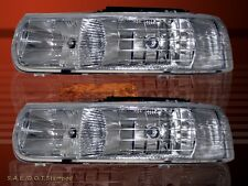 1999-2002 CHEVY SILVERADO 00-06 SUBURBAN TAHOE CLEAR HEADLIGHTS BULBS INCLUDED