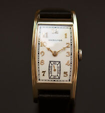 1942 Vintage HAMILTON USA 'Yorktowne' 980 17J DRESS WATCH MEN 14K GOLD FILLED