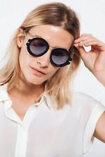 NEW Karen Walker Maze Superstars Round Sunglasses Black Silver Mirrored Lens