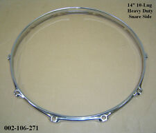 "14"" 10-Lug Triple Flanged H/Duty BOTTOM Hoop / Ring / Rim Snare Drum 002-106-271"