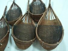 Small pretty bamboo baskets ideal for plants. (5 pieces) FREE WORLD POST.
