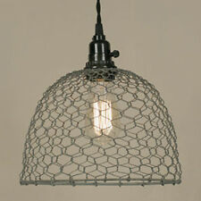 New Chicken Wire Dome Pendant Lamp Ceiling Light Country Farmhouse Primitive