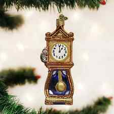 *Hickory Dickory Dock* Clock [32230] Old World Christmas Glass Ornament - NEW