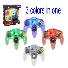 Nintendo 64 USB LED Classic Controller - Blue / Red / Green Color Light UP! N64