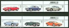 GREAT BRITAIN 2013  CLASSIC AUTOMOBILES ET OF SIX   MINT NH