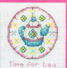 Stitchers' Sayings. Cross Stitch pattern from magazine - TIME FOR TEA